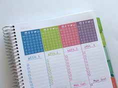 how to use blank pages of your planner monthly notes page habit tracking planner stickers routine free printable tracker blank notebook empty