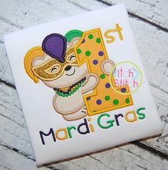 I2S First Mardi Gras Applique design