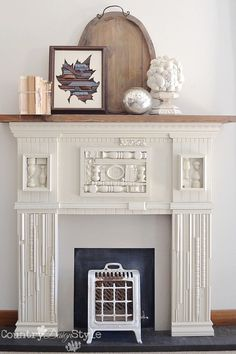 How you ever seen something in a magazine that you want so bad? This is what I did to get a scrap wood mantel. An it was easy to do. | Country Design Style #DIYwoodmantel #makeamantel