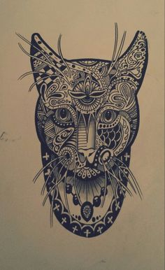 Cat Mandala by Fredrik Ahlberg