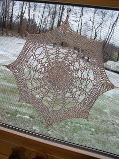 Crochet spider web doily pattern - Halloween