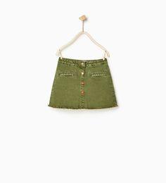 Image 2 of Press stud skirt from Zara