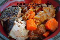 Big Rigs 'n Lil' Cookies: Fall Harvest Roast with Whiskey Peach Sauce
