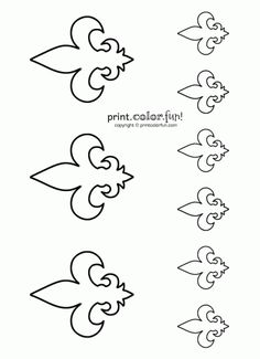 Stencils: Fleur-de-lis 2 coloring page - Print. Stencil Patterns, Stencil Designs, Cub Scouts, Girl Scouts, St Jean Baptiste, Eagle Scout Ceremony, Stencils, Diy Fleur, Eagle Project