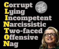 Clinton - they used to always say all of Bill's scandals were about other women & all of Hillary's scandals involved $$ ... that doesn't comfort me