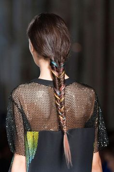 rainbow fishtail braid at marco de vincenzo spring 2015 V