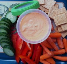 Roasted Red Pepper Dip (uses cottage cheese...high in protein, low in fat, rich in flavor!)
