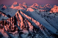 Lake Clark, National Park, Alaska: Aerial views of the Aleutian Mountain Range and Chigmit Mountains at last light. #MomentstoConserve