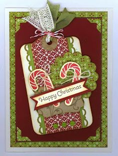 Created by Carlene Prichard: Chatterbox Creations-1.blogs.... 11-12-13 - Candy Canes Christmas- Tag Card #3! (Inspired by: Christmas Tags by Heidi Gonzales). See blog for ingredient recipe.