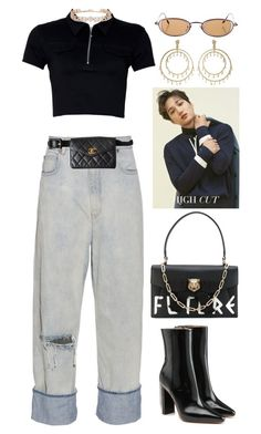 """""""shaved"""" by lalagenue ❤ liked on Polyvore featuring Golden Goose, Vetements, Gucci, Oscar de la Renta and Chanel"""