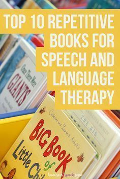 Top 10 Repetitive Books for Speech and Language Therapy