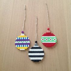 Christmas ornaments hama perler beads by krea83