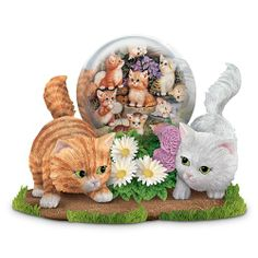 Gazing With Friends Kitten Figurine by The Hamilton Collection