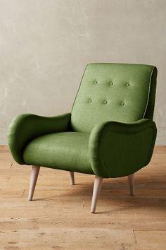 Linen Losange Chair, Wilcox - anthropologie.com