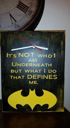 Awesome Batman Canvas Clock by JenningsKreations on Etsy
