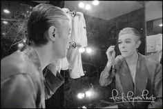 """David is getting ready for a concert in Paris as the 1976 European tour was winding down. This shot was taken by Andrew Kent at L'Hotel where David was staying. The photographer was no stranger to Paris. He lived there as a teen with his aunt, uncle and cousin on the Isle St. Louis, """"right down the street from Marc Chagall and Georges Pompidou."""""""