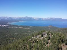 Lake Tahoe from Castle Rock off the Tahoe Rim Trail.