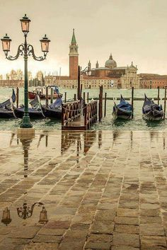 Rainy day, Venice, Italy- Venice is a city in northeastern Italy sited on a group of 118 small islands separated by canals and linked by bridges