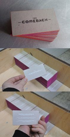 Card Observer :: Cool Edge Painted Business Cards