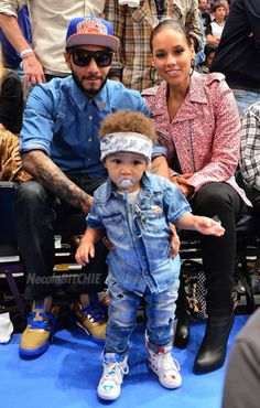 """Alicia Keys, Swiss Beats w/ son, Baby Egypt. Not a fan of how I think this relationship began but they appear solid """"together"""" nonetheless."""