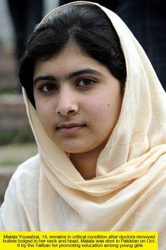 Malala Yousafzai - One brave 14 year old