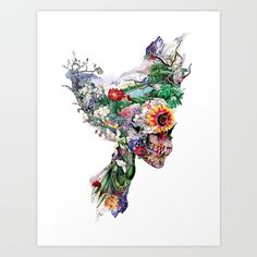 Check out society6curated.com for more! @society6 #illustration #wall #apartment #decor #homedecor #buy #shop #sale #shopping #apartmentgoals #sophomoreyear #sophomore #year #college #student #home #house #gift #idea #art #prints #skull #skulls #floral #flowers #flower #botanical #cool #digital #digitalart