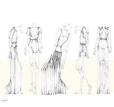 Fashion Portfolio - fashion design illustrations; dress drawings; fashion sketchbook // Nina Hecht