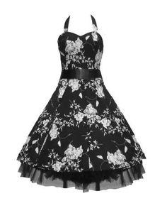 Tiger Milly - Robe Femmes style années 50 Motif fleuri noir/blanc - Noir, S -EU38 Tiger Milly http://www.amazon.fr/dp/B003UC3CTQ/ref=cm_sw_r_pi_dp_nyvVtb1TZW7P4F0P