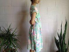 Vintage Summer Floral Dress by naninvintage on Etsy, $36.00