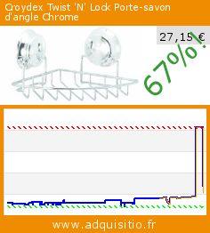 Croydex Twist 'N' Lock Porte-savon d'angle Chrome (Cuisine). Réduction de 67%! Prix actuel 27,15 €, l'ancien prix était de 82,12 €. http://www.adquisitio.fr/croydex/twist-n-lock-porte-savon-2