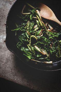 caramelized ramps & asparagus