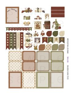 Monthly Planner Stickers Country Christmas Holiday by partyINK