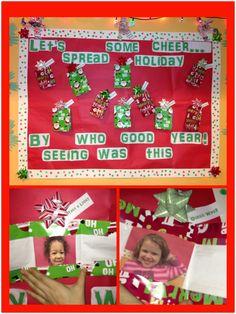 Christmas Bulletin Board Classroom Walls, Classroom Bulletin Boards, Classroom Crafts, Classroom Fun, Classroom Displays, Classroom Activities, Door Displays, Holiday Gifts, Christmas Gifts