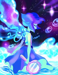 Lapis Lazuli Anime Steven Universe | my favorite things: space, water, flowy ribbons, girls in cute dresses