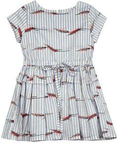 Sale - Hannah Striped Ruffle Dress - Morley Morley KZkdO02