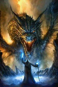 Dragon art inspiration for role play games. Revised Dragon Painting by Chris Scalf on DeviantArt Mythological Creatures, Mythical Creatures, Digital Art Illustration, Dragon Face, Fantasy Kunst, Cool Dragons, Dragons Den, Dragon's Lair, Dragon Artwork