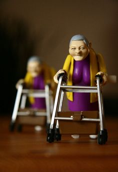 racing grannies wind up toys :))  This makes me happier than it probably should...