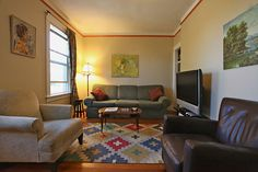 St. John's Apartments - offers an unparalleled way to experience Seattle. Live like a local in one of eight short-term rental apartments | Apartment 309 is a two-bedroom apartment with two baths, and can sleep up to six.