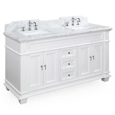Elizabeth 60-inch Double (Carrara/White)