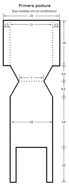 Explicaciones para primera postura y los patrones para primera postura, 3 meses y 6 meses.