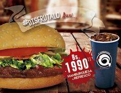 Por Bs.1990 come un espectacular menú para recibir nuestros días de aniversario. HAMBURGUESA REFRESCO...para que tus panas te acompañen. @qhamburguesa #ProximaPromo #TripleCarneTambien #EnsaladasQtegustan #SuculentasCarnes #RealmeteTeProvoca! http://ift.tt/2fCX7T2