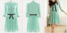 Secret Garden Pleated Bib Dress in Mint Green     Super adorable :)