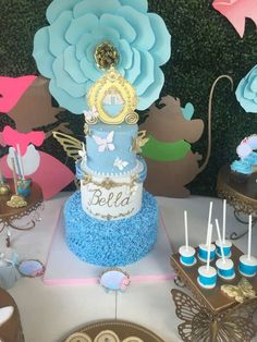 Amazing cake at a Cinderella birthday party! See more party ideas at CatchMyParty.com!