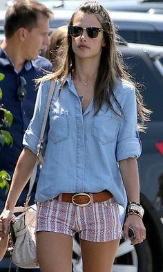 Bella Dahl Split Back Button Down as seen on Alessandra Ambrosio  $128