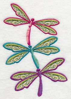 Buzzing Dragonflies Stack design (E8932) from www.Emblibrary.com