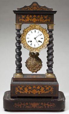 French Portico Mantel Clock