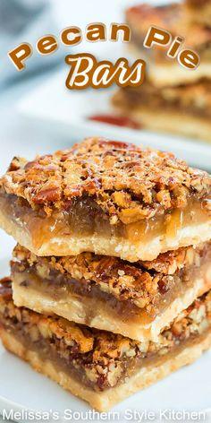 These gooey Pecan Pie Bars are decadent to the very last gooey bite #pecanpie #pecanpiebars #pecans #cookiebars #holidaybaking #fallbaking #christmascookies #cookieswap #pecanpie #southernfood #southernrecipes Roast Turkey Recipes, Pecan Recipes, Brownie Recipes, Apple Recipes, Sweet Recipes, Baking Recipes, Cookie Recipes, Dessert Recipes, Fall Recipes