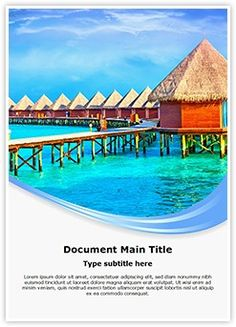 Villa Word Document Template is one of the best Word Document Templates by EditableTemplates.com. #EditableTemplates #PowerPoint #templates #Sunset #Coast #Beach #Tropical #Resort #Maldives #Sea #Hotel #Tourism #Paradise #Vacation #Holiday #Romantic #Exoticism #Luxury #Travel #Exotic #Island #Pacific #Ocean #Vacations
