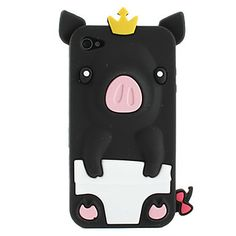 Hot Selling Peach 3D Pig Cartoon Silicone Rubber Case for iPhone 4/4S - Cute Cartoon iPhone 4/4S Cases - iPhone 4/4S