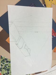 Medium: Pencil This is a drawing of the library in 2 point perspective.